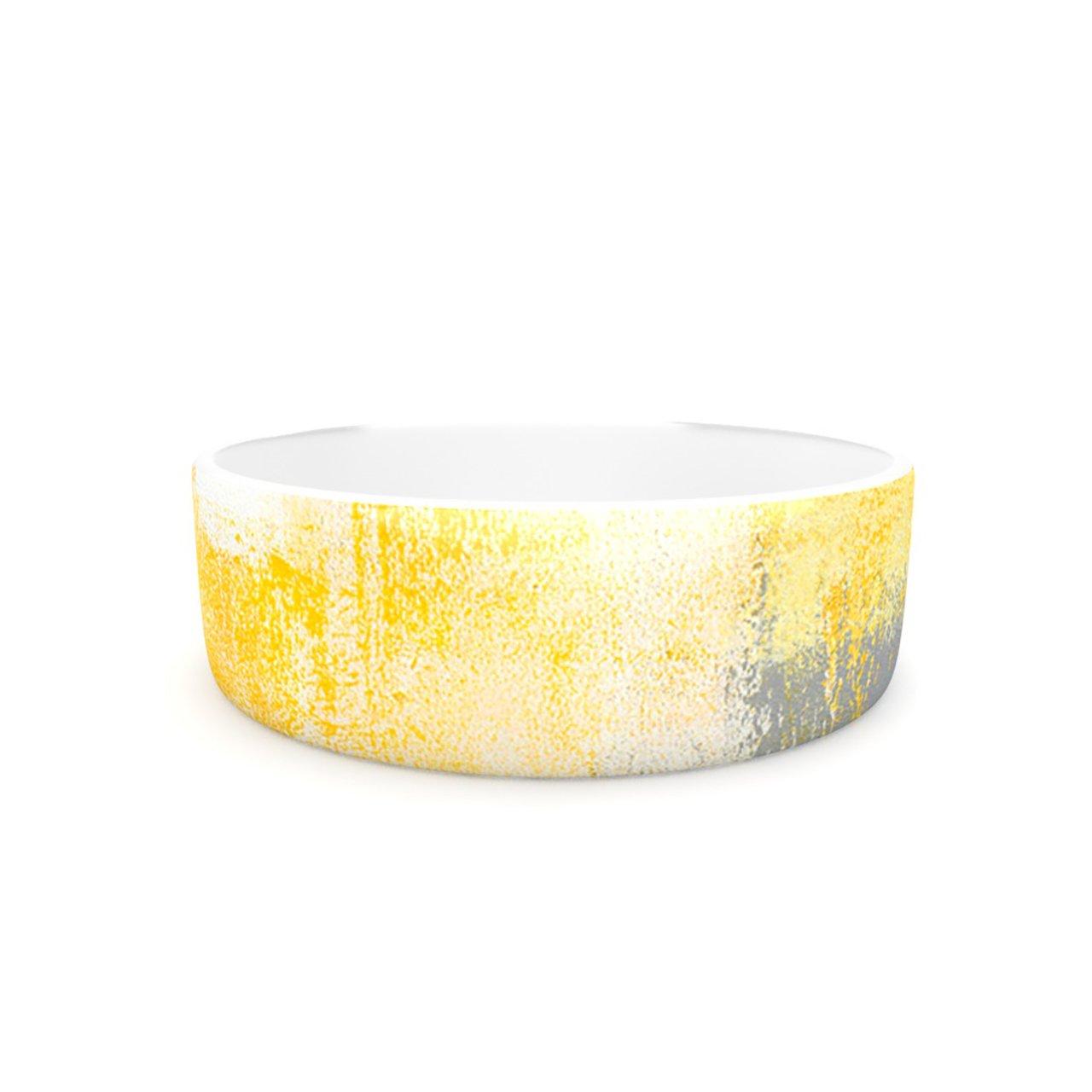 Kess InHouse CarolLynn Tice Breakfast  Pet Bowl, 7-Inch, Grey gold