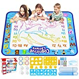 Jasonwell Aqua Magic Doodle Mat 100cm x 80cm Extra Large Water Drawing Doodling Mat Coloring Mat Educational Gifts Toys for Kids Toddlers Boys Girls 3 4 5 6 7 Year Old