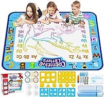 Jasonwell Pizarrones Magicos para Niños 100x80cm Aqua Doodle Mat Grande Tableta de Dibujo Kit Mágico Dibujo de Agua...