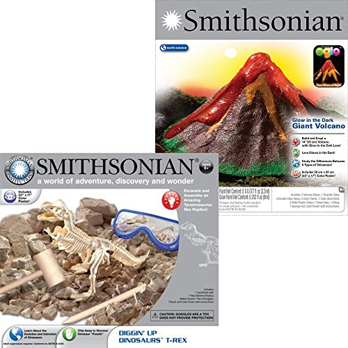 NSI Smithsonian Giant Volcano and Dinosaur Dig 2 Set Kit by Smithsonian