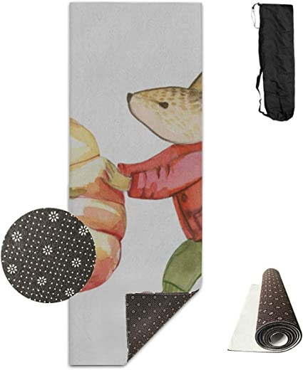 Amazon.com : Mens Yoga Equipment Little Cute Mouse Rat Animal Non-Slip Yoga  Mat Exercise Mat Fitness Pad for Sport Stretching Pilates Meditation 71 X24  Inch Small Yoga Mat : Sports & Outdoors