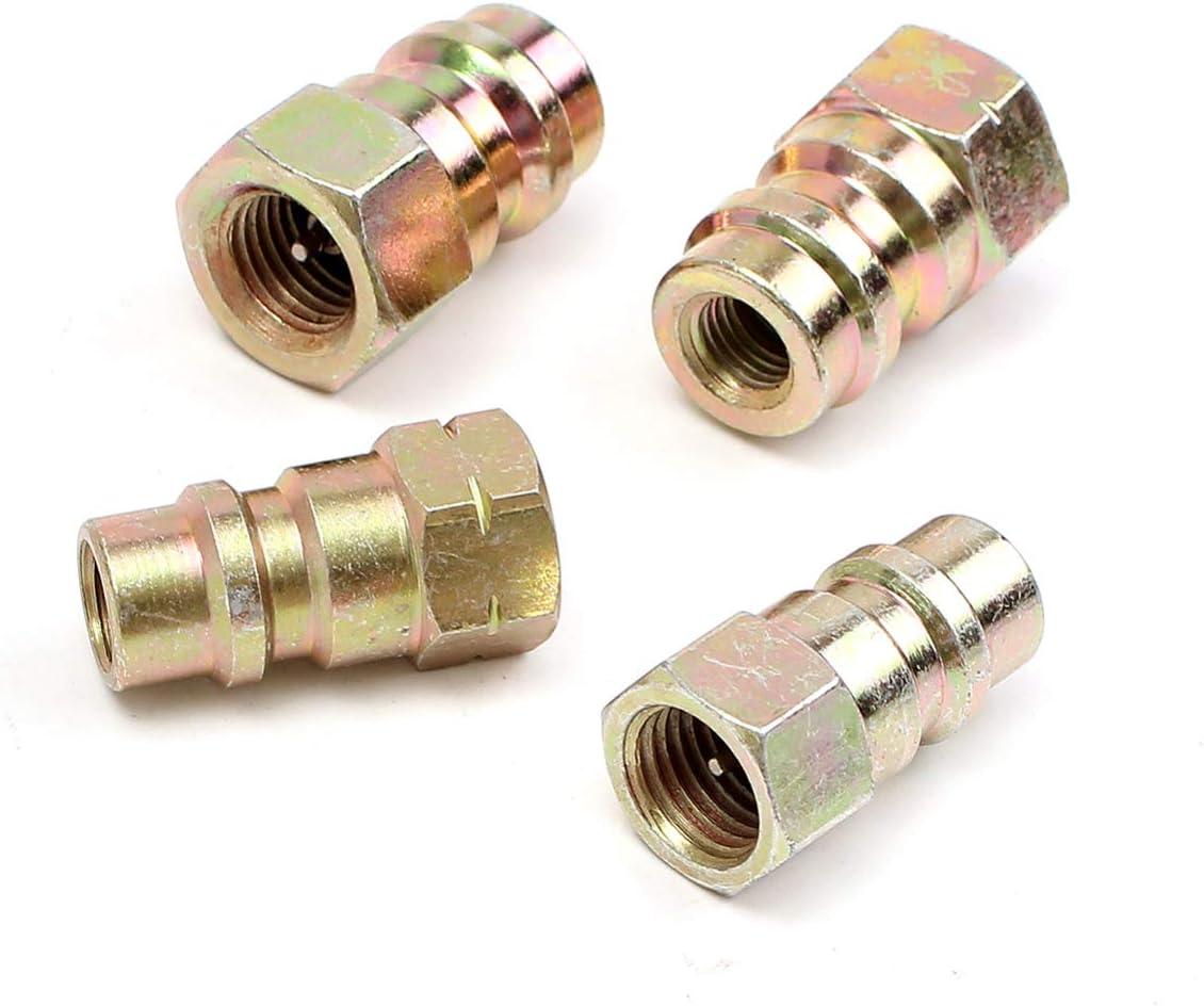 f/ür alle Motoren die von R-12 auf R-134 A C umr/üsten Garneck 4 St/ück Universal-Nachr/üstventil-Staubkappe mit 1//4 Zoll Anschluss an der unteren Seite