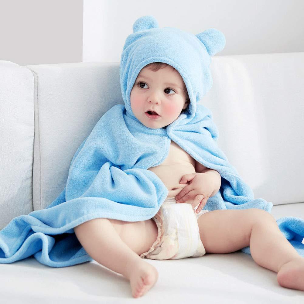 Toalla de baño para bebé, toalla de baño para recién nacido, capucha ...