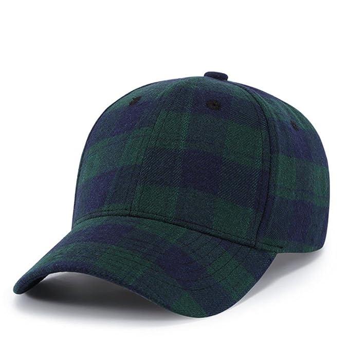 Llxln Gorras Sombrero Cuadriculado Hueso Bordado Gorra Snapback Personalidad Sombreros para Hombres Mujeres Hip Hop Cap Casqutte Azul: Amazon.es: Ropa y ...