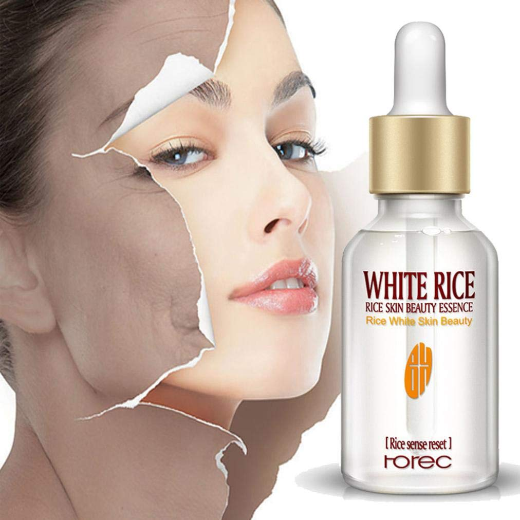 Facial Moisturizer White Rice Skin Nourishing Essence - Strong Anti Wrinkle, Anti Aging, Hydrating Skin Care Serum 15ml