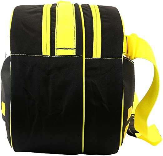Babolat Club 3 Racket Tennis Bag With Padded Shoulder Straps Black//Yellow