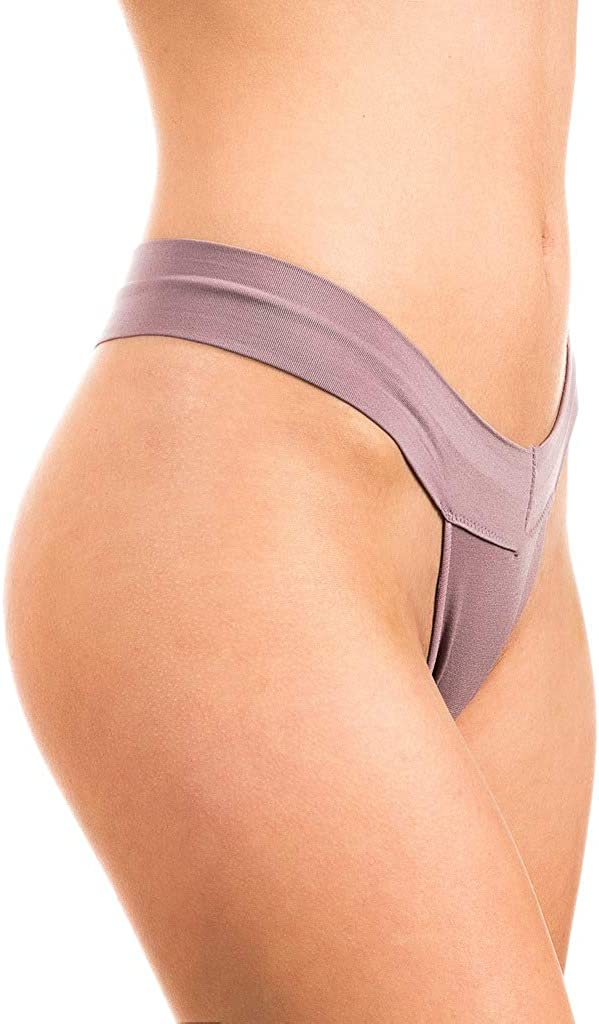 Alyce Intimates Womens 7 Pack Seamless Yoga Thong,