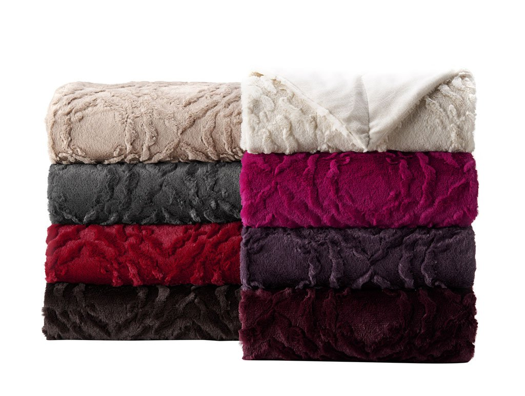 Laurel Throw 50-inch by 60-inch ピンク THROW-LAUREL-HOTPINK B00S8SQMIA ホットピンク 50-inch by 60-inch
