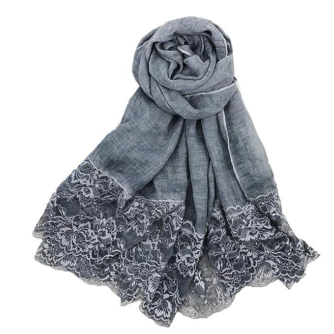 Bufanda de algodón del color sólido -  Mantón Bufanda Para Fiestas.