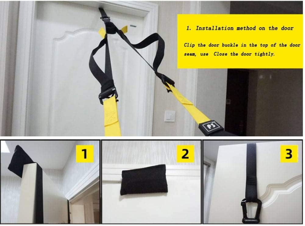 LinkLove Suspension Trainer Kit Trx Resistance Bands Outdoors Durability Door Anchor Pro System Design Includes Three Solutions Video Workouts Home Fitness Suitable For Training Indoors
