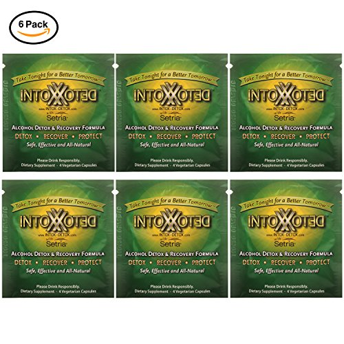 Intox-Detox - an Effective and All Natural Hangover Remedy | Organic Herbal Supplement for Alcohol Detox and Liver Protection | Take Pre-Hangover Pills to Prevent Headaches, Nausea and Liver Damage