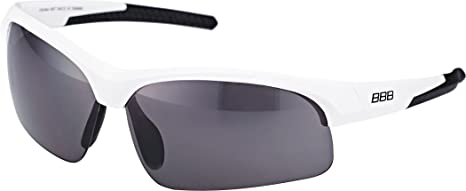 cade9753a62 BBB BSG-48 Impress Small Fit Sport Glasses White Frame Smoked Lens ...