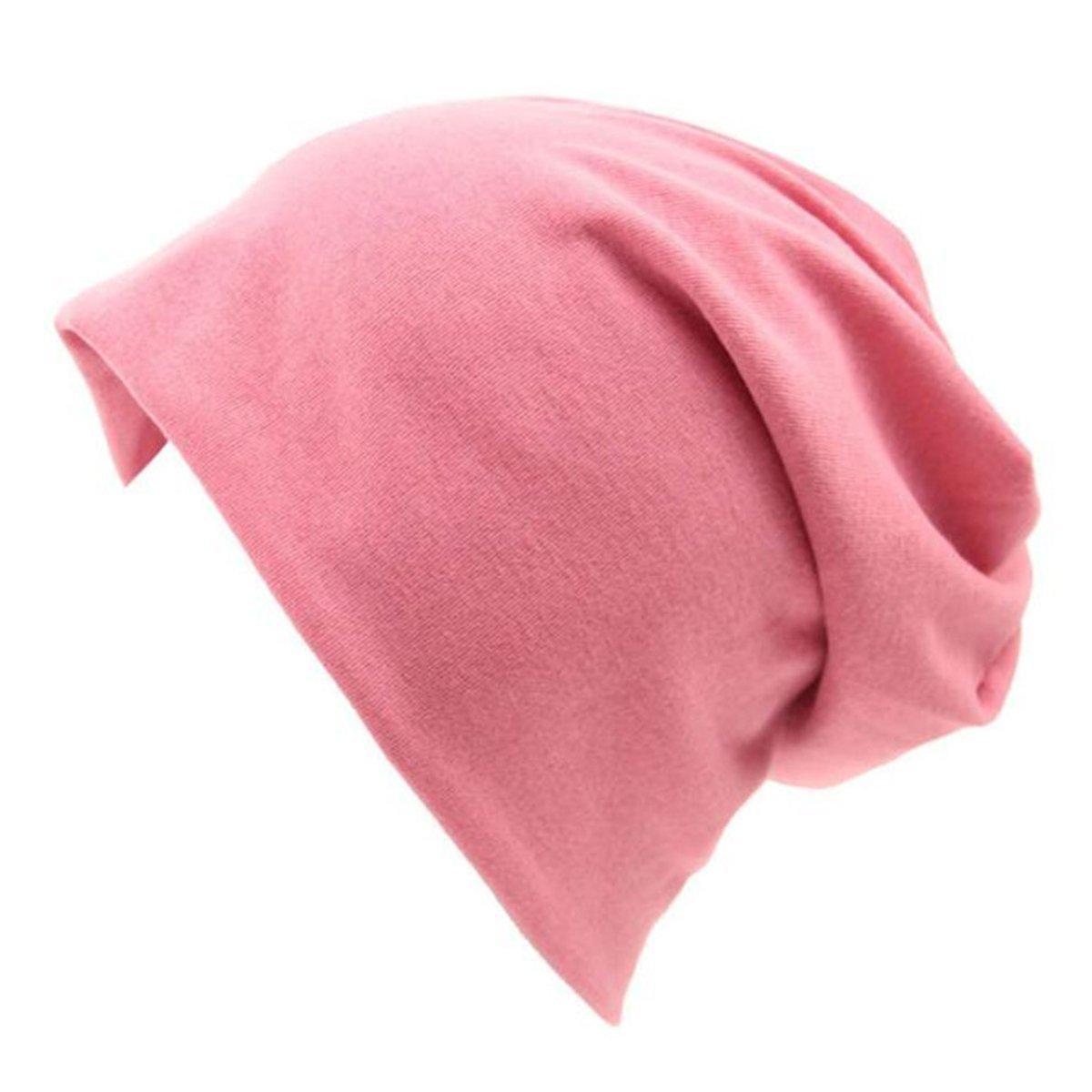 866e9ce1b53 Zando Soft Stretch Beanie Hat Thin Stylish Hip-hop Slouchy Skull Caps Baggy Sleep  Cotton Chemo Cap for Womens Mens MNFUHAS1194AHA1P  1540969766-87743  - ...