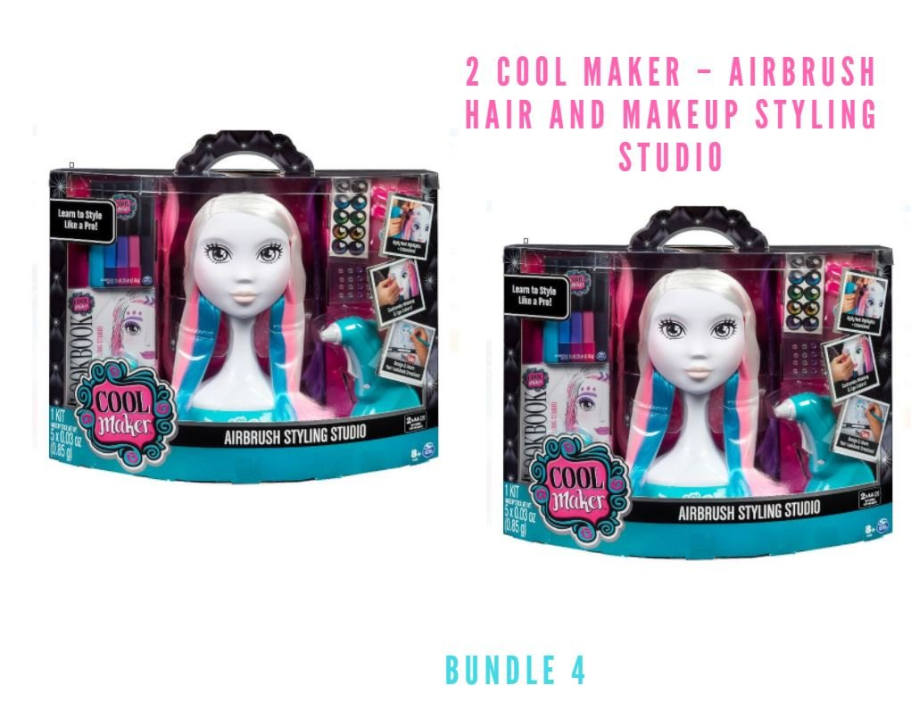 Cool Maker – Airbrush Hair and Makeup Styling Studio (Bundle 4)