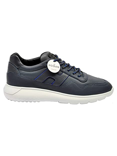 HOGAN HXM3710AM20JFY691N Hombre Azul Cuero Zapatillas: Amazon.es: Zapatos y complementos