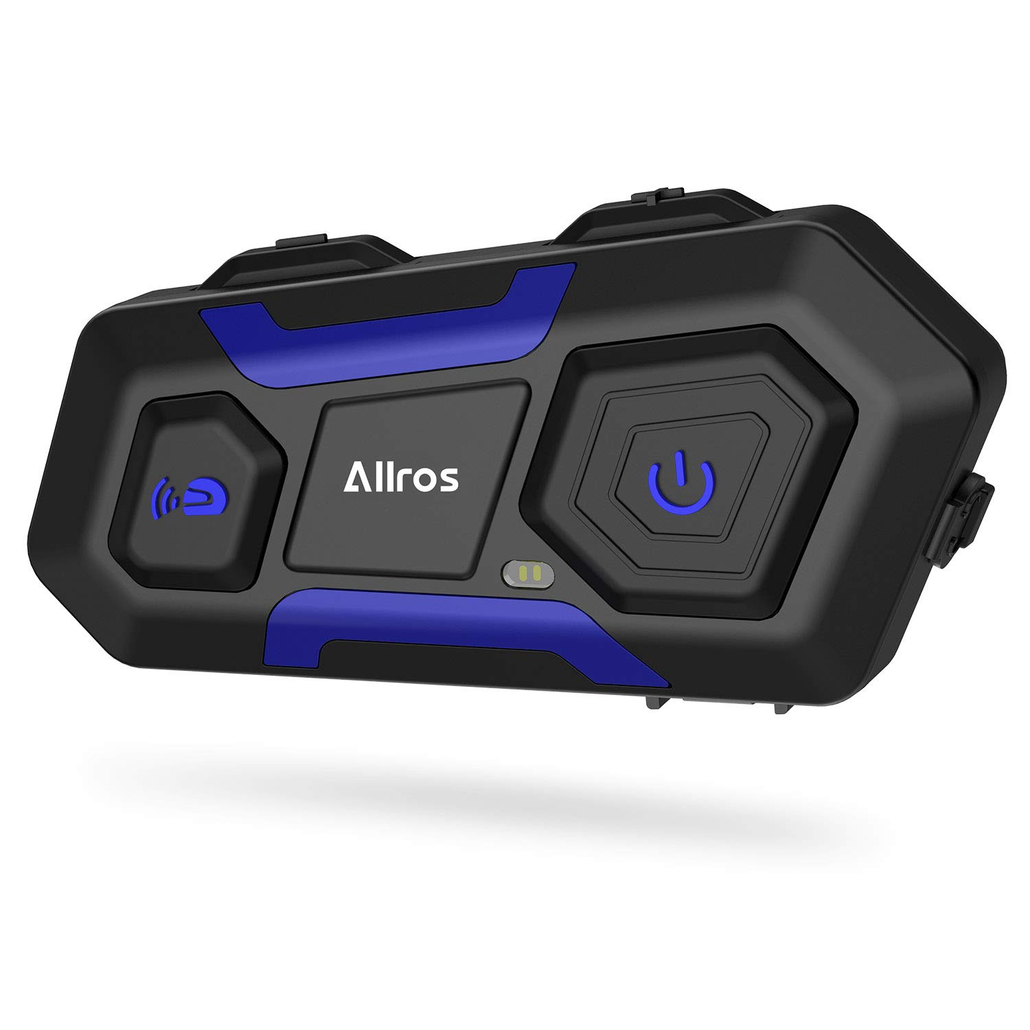 ALLROS T10 Bluetooth 3.0 Motorcycle Helmet Intercom Wireless Communication Headset Supports up to 3 Riders Hands-Free Group Call Communication for Motorbike Bike ATV Car Skiing (Single Headset)