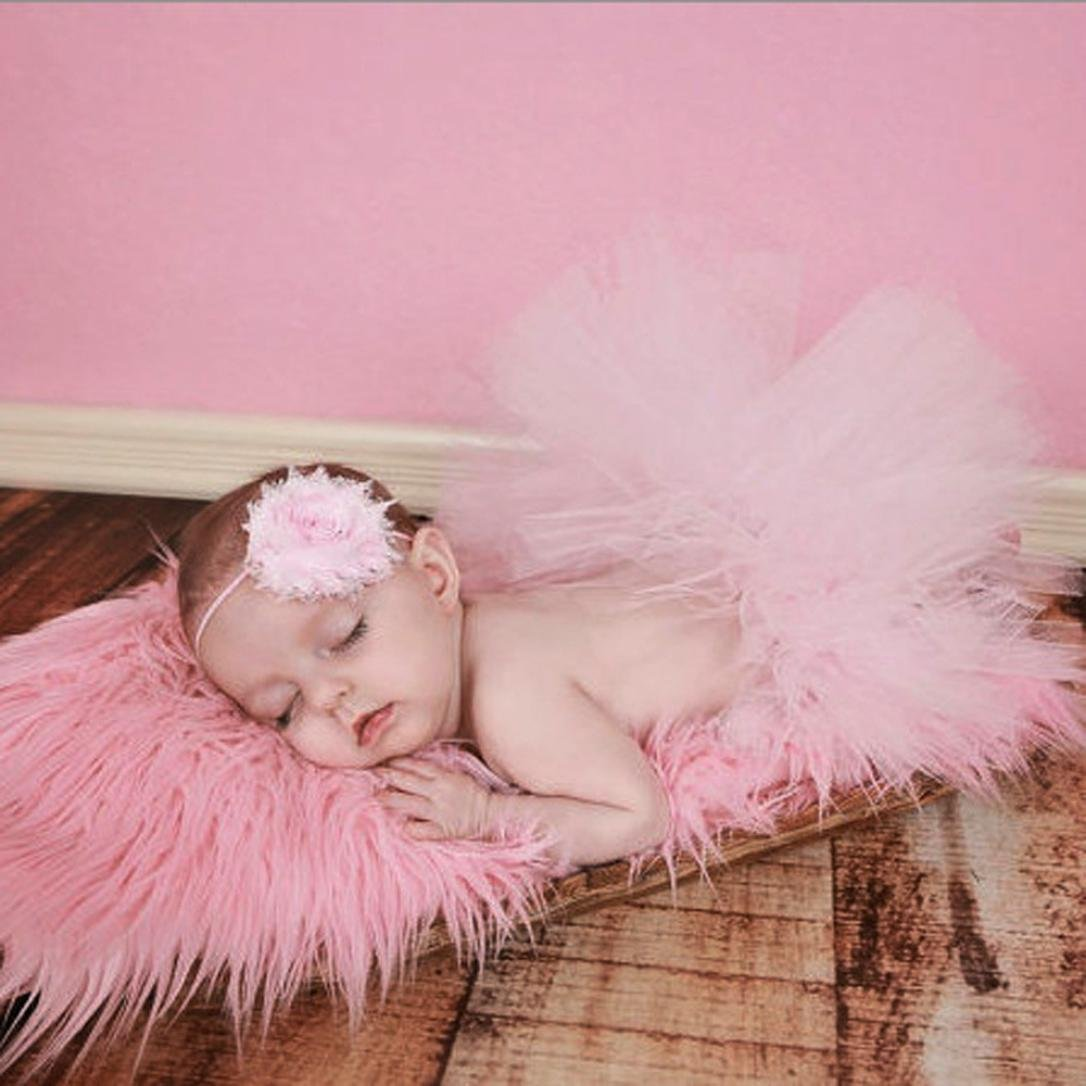 A 0-4 meses Recien nacido Vestido Tutu de Encaje y Banda de peloo fotografia bebes ni/ña Fossen Bebe Ni/ña Fotografia Ropa