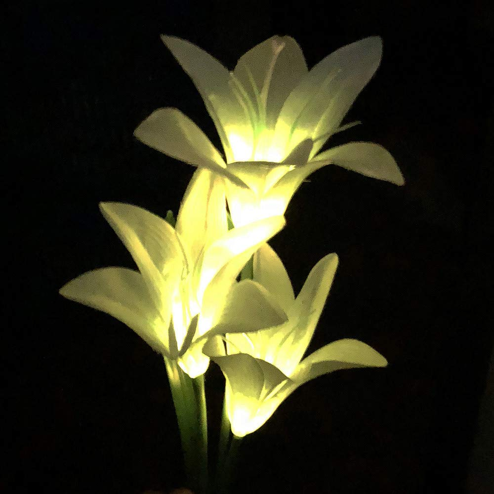High Quality Coohole Solar Lights Outdoor   New Upgraded Solar Garden Lights, Lily Solar  Flower Lights For For The Garden, Trees, Flowers, Flowerbed, Fence, Walkway