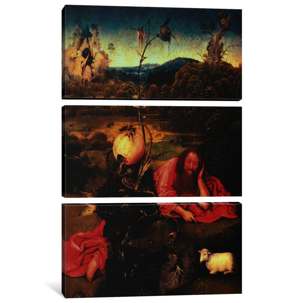 John The Baptist in Meditation Canvas Print by Hieronymus Bosch 1.5 x 40 x 60-Inch iCanvasART 3 Piece St