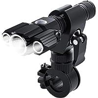 Faruxue Conjunto de luz de bicicleta recarregável por USB, farol de bicicleta e lanterna traseira IP65 à prova d'água…