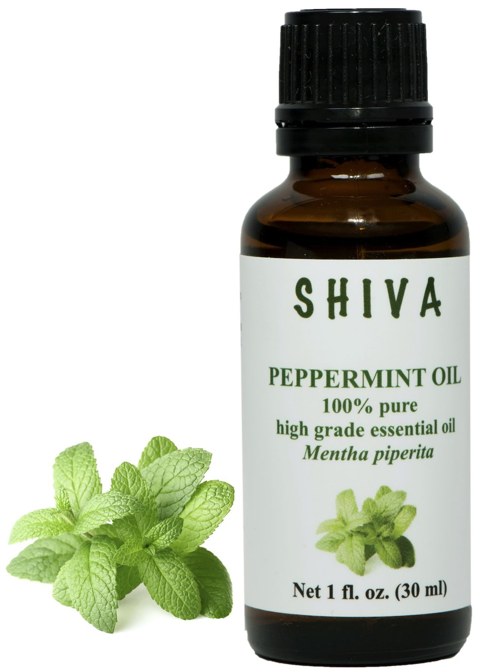 SHIVA 100% Pure Peppermint Essential Oil 30 ml / 1 FL. OZ. (Mentha piperita). Low introductory price for a limited time.