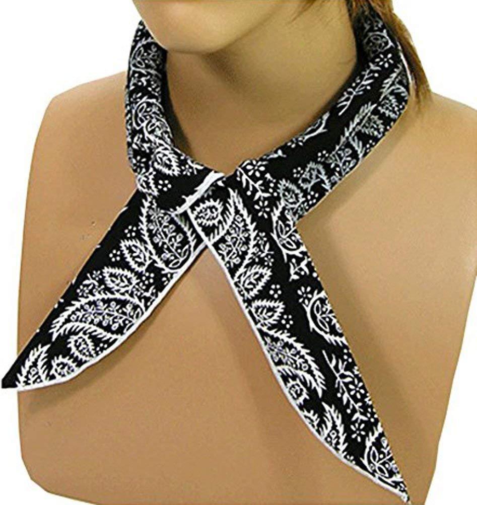 Color Black JellyBeadZ Cooling Neck Scarf Bandana Wrap Keeps You CooL