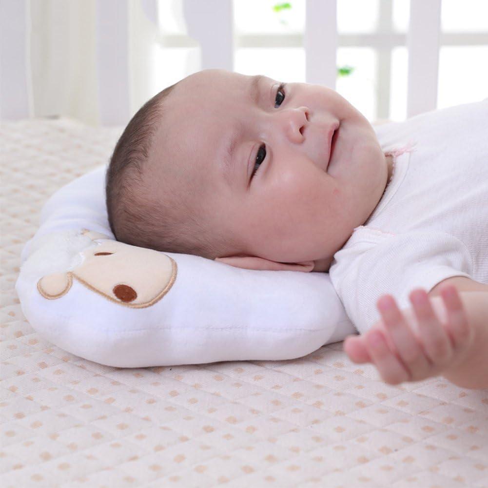 White Baby Nursing Pillow Baby Head Shaping Pillow for Newborn Soft Sleep Pillow Headrest Anti Flat Head Syndrome Pillow