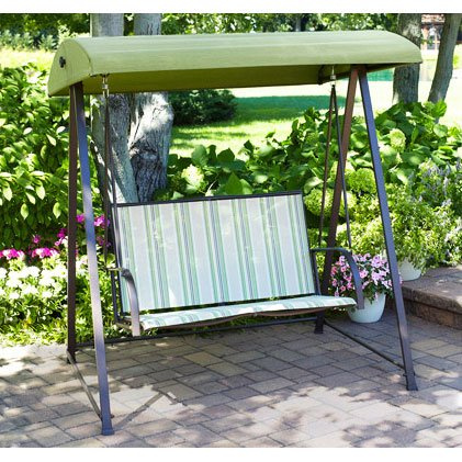 Garden Winds Striped 2 Person Swing Replacement Canopy Top Cover by Garden Winds