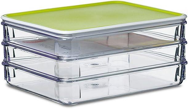 Modula Aufschnitt 550 ml 3-teilig Rosti Mepal K/ühlschrankdosen-Set