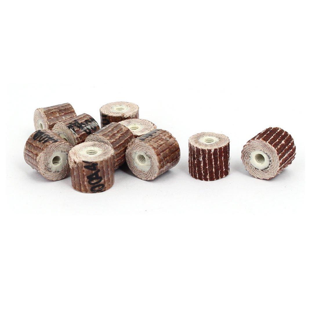 uxcell 400 Grit 10mm Dia Sandpaper Flap Sanding Wheel Grinding Polishing Tool 10pcs