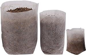 Huvai 400Pcs Degradable Non-Woven Plant Nursery Bags Plant Seeding Bags (100 Pcs 7.09