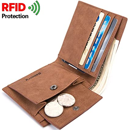 Amazon com: Men's Wallet RFID Coin Bag Short Wallet PU