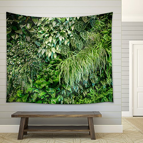 Green Leaf Wall Texture Background Fabric Wall Tapestry