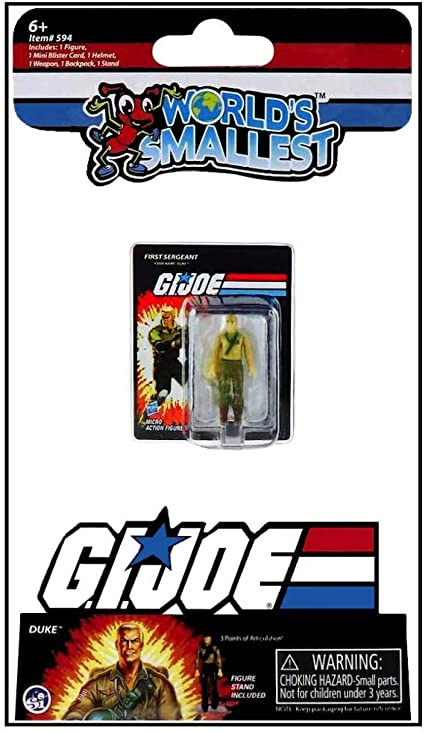 Joe Vs Cobra Duke Micro Action Figure World/'s Smallest G.I