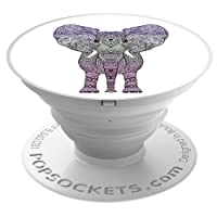 PopSockets Expanding Grip Case with Stand for Smartphones and Tablets - Elephant