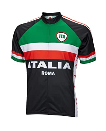 Amazon.com  World Jerseys Italy Italia Roma Cycling Jersey by Men s ... aa8206bc3