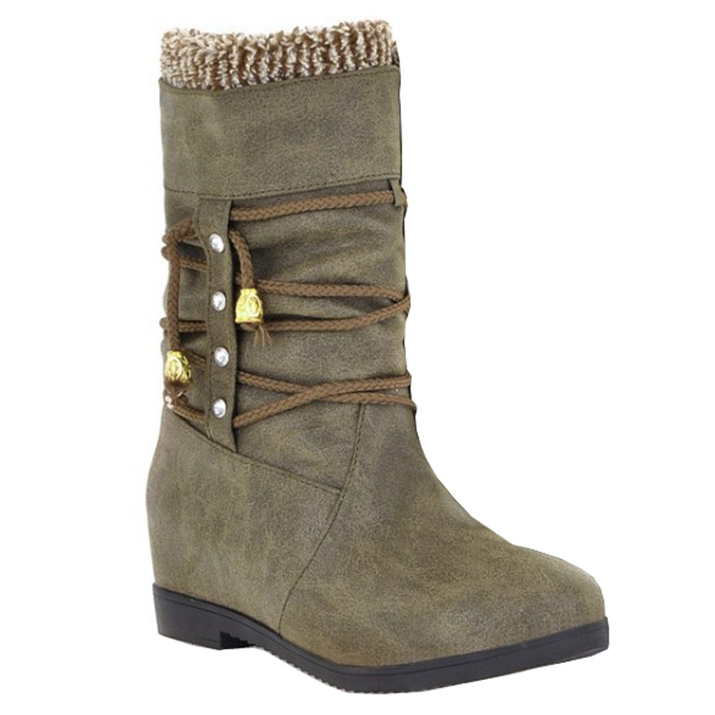 HiTime Bottes Bottes 19947 Indiennes Femme Indiennes green 5ae2c0a - boatplans.space