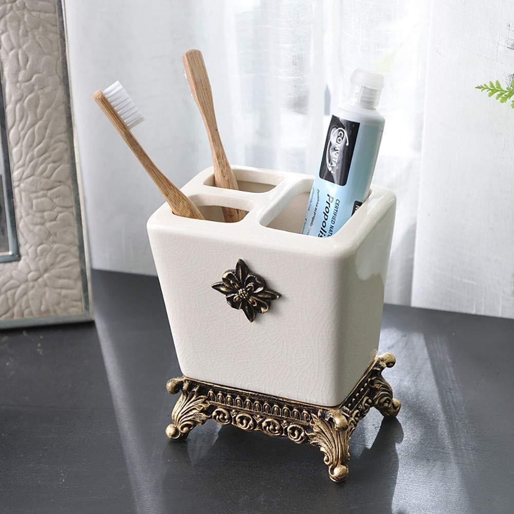 Lamya 5 Piezas Ceramica Accesorios De Baño Set : 2 Gárgaras ...