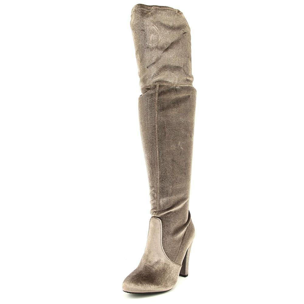 Steve Madden Womens Gorgeous Fabric Almond Toe Over Knee Fashion Boots Taupe Size 7.0