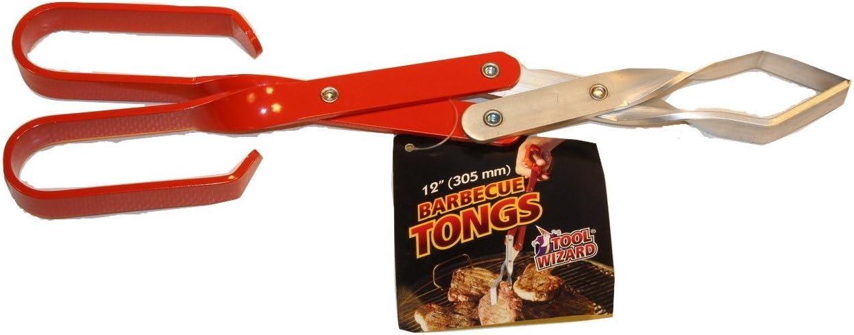 B0000CFH4M Tool Wizard BBQ Tongs 12 Inch 61hIlnZwtQL