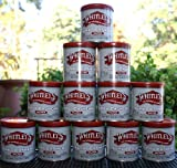 All Natural Jumbo Gourmet Cashews - 12 PACK 5.5 oz. per tin - Whitley's Plump Meaty Crisp Perfectly Roasted & Salted Cashews