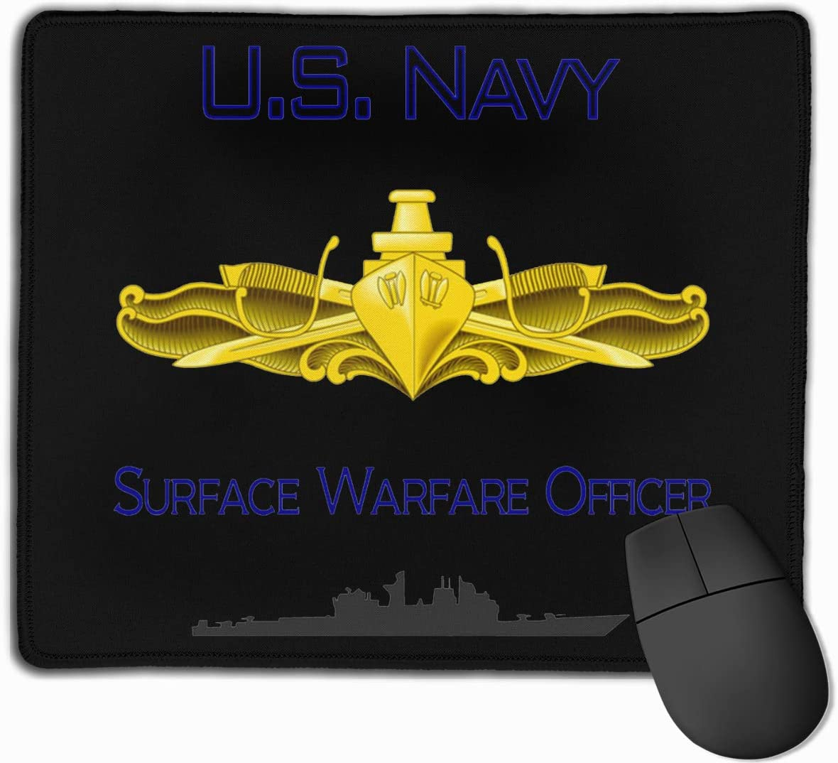 US Navy Surface Warfare Officer Mouse Pads Non-Slip Gaming Office Mouse Pad Rectangular Rubber Mouse Pad