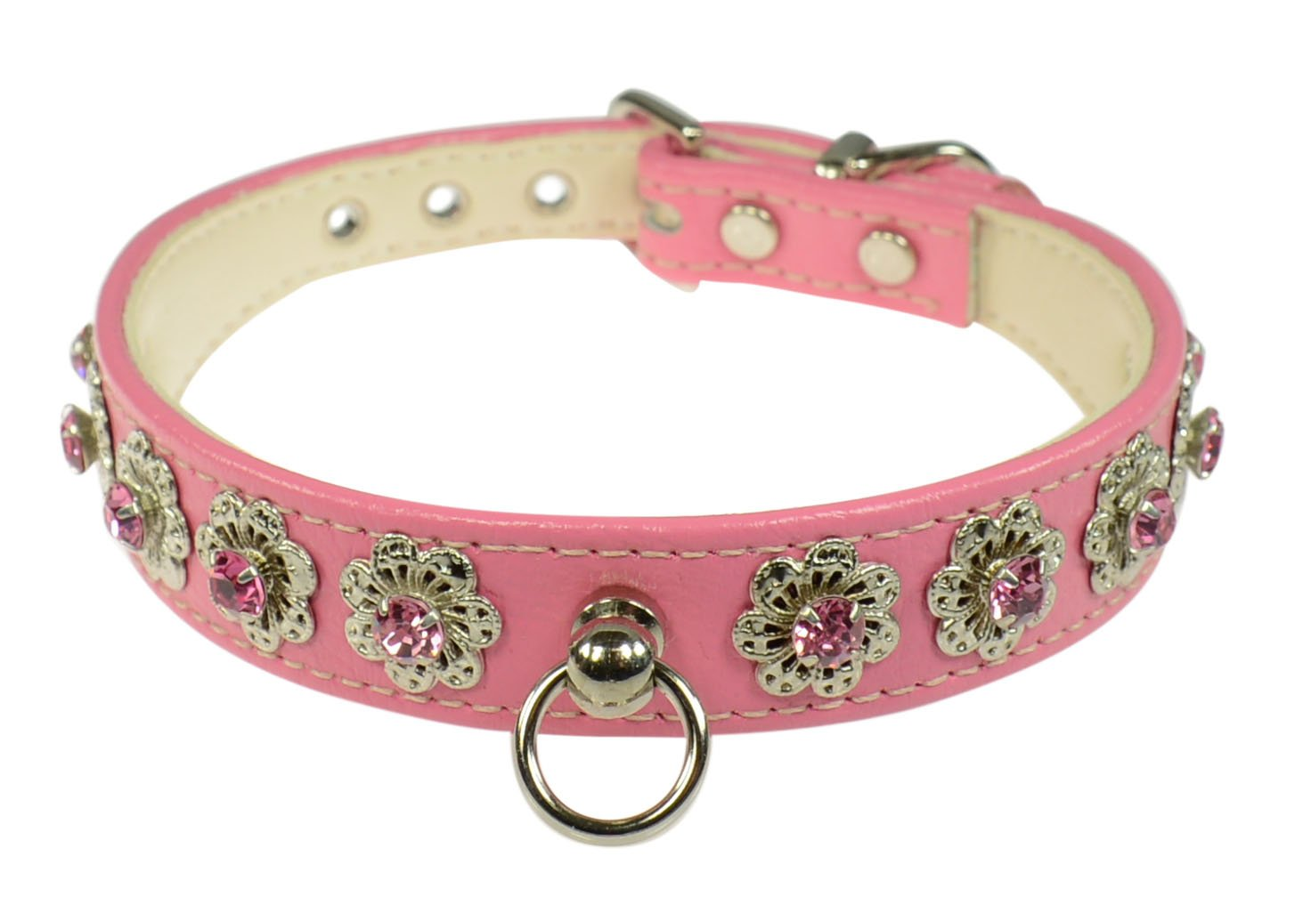 Evans Collars 3 4  Shaped Collar with Starlight Pattern, Size 10, Vinyl, Pink
