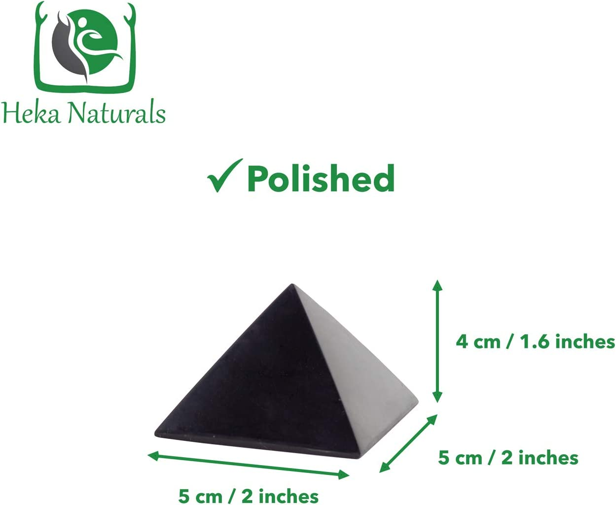 4 Inch Pyramid Authentic Anti-Radiation Shungite Stone Figures from Karelia Polished Shungite Pyramid 4 Inches Polished Contains Fullerenes for EMF Protection Russia