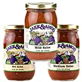 Jake & Amos Tomato Salsa Variety Pack 16 oz. Mild, Medium, Hot (1 Jar of Each)