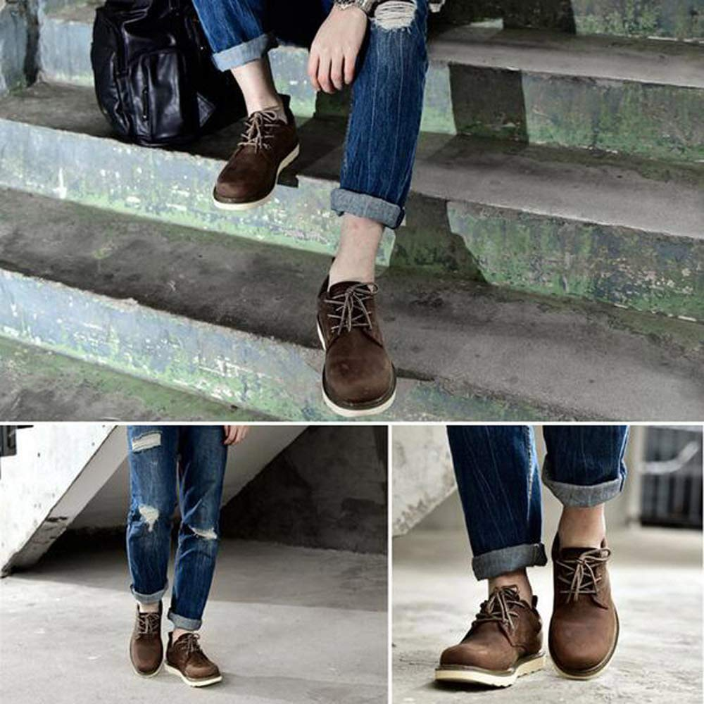 WANG-LONG WANG-LONG WANG-LONG Schuhe Herren Stiefel Martin Outdoor Breathable Casual Tooling Lederschuhe Frühling Und Herbst Rutschfeste Mode,braun-42 edadce