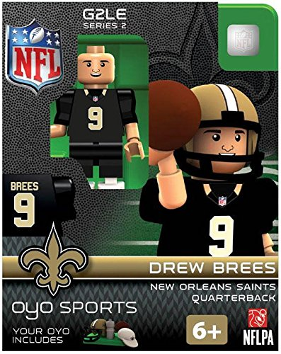 NFL New Orleans Saints Drew Brees Gen 2 Mini Figure, Petit