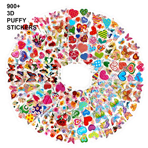 Amazon.com: Konsait 3D Puffy Stickers Pack for Kids Toddlers ...