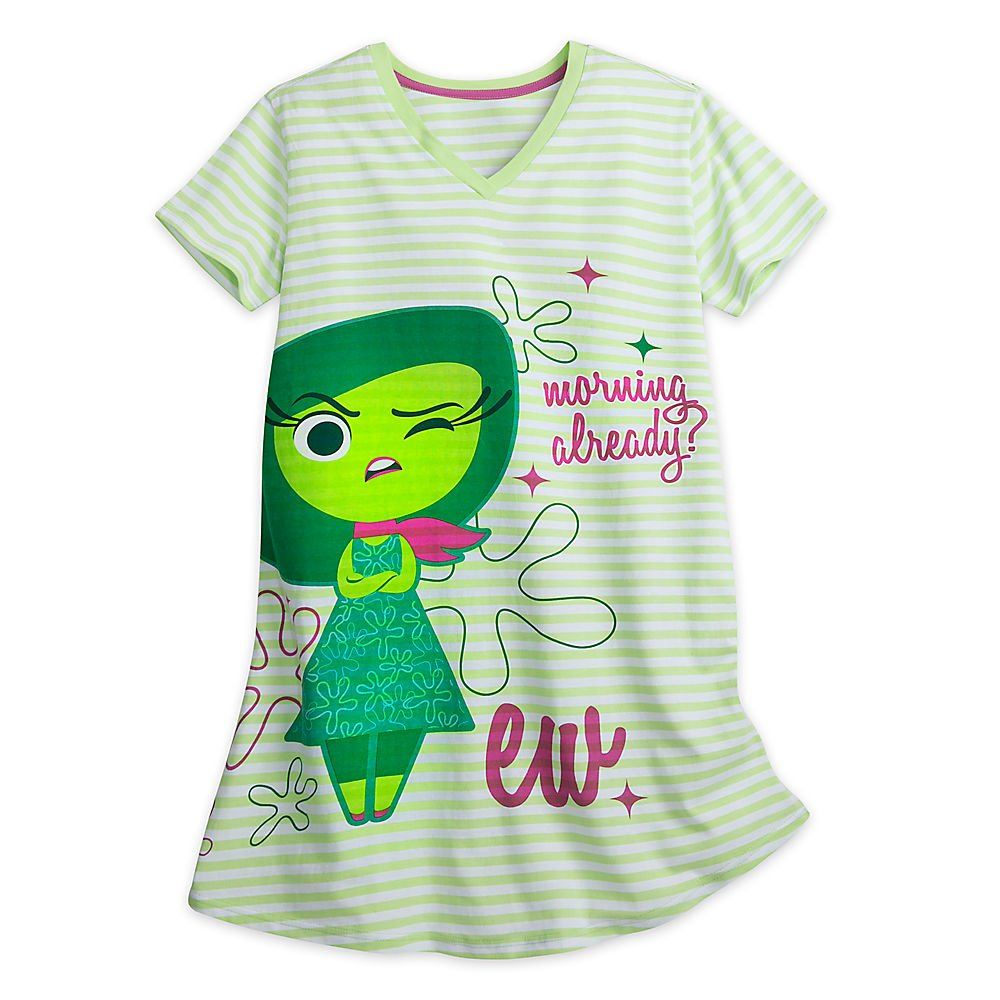 Disney Inside Out Nightshirt For Adults - Disgust Size XL/2XL