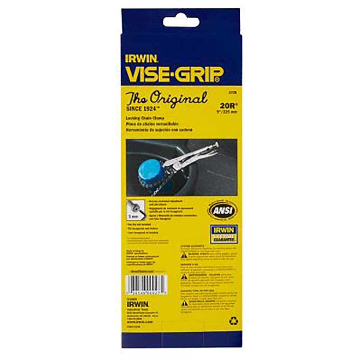 Irwin Tools 27 Irwin Industrial Vise-Grip Locking Chain Clamp, 9'' by Irwin Tools